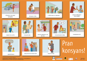 Awareness Phase: Picture Card, addressing forms of violence against women and girls