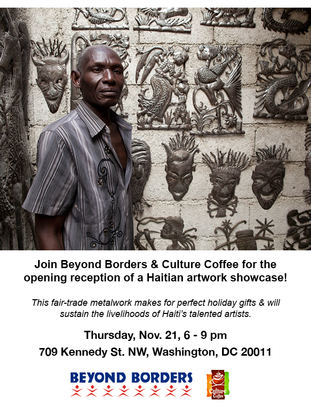 Culture Coffee Art Reception Flier